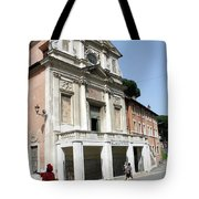 Roman Soldier In Red Tote Bag