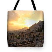 Roman Theater In Taormina IIi Tote Bag