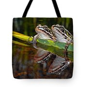 Romance Amongst The Frogs Tote Bag