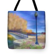 Romance At Elizabeth Park Bridge Tote Bag