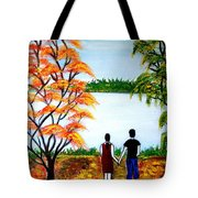 Romance In Autumn Tote Bag