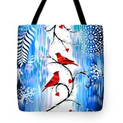 Romance In The Snow Tote Bag