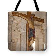 Romanesque Abbey Crucifix Tote Bag