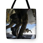 Romanian Paratroopers Perform A Halo Tote Bag