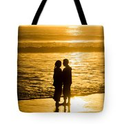 Romantic Beach Silhouette Tote Bag