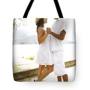 Romantic Couple In White Tote Bag by Kicka Witte - Printscapes