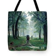 Romantic Forest Walk In The Rain Tote Bag by Isabella Howard