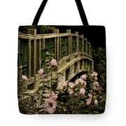 Romantic Garden And Bridge Tote Bag