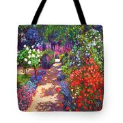 Romantic Garden Walk Tote Bag