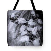 Romantic Island Iris In Black And White Tote Bag