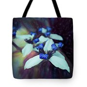 Romantic Island Lilies In Blues Tote Bag