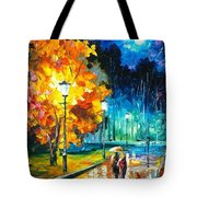 Romantic Night 2 - Palette Knife Oil Painting On Canvas By Leonid Afremov Tote Bag