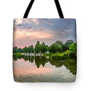 Romantic Pond In Park In Hamburg Tote Bag
