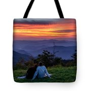 Romantic Smoky Mountain Sunset Tote Bag