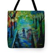 Romantic Stroll Tote Bag
