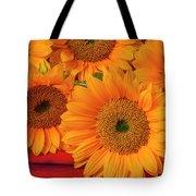 Romantic Sunflowers Tote Bag