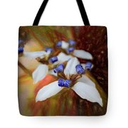 Romantic Textured Island Lilies  Tote Bag