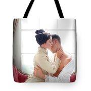 Romantic Victorian Couple Tote Bag