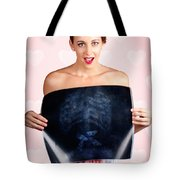 Romantic Woman In Love With Butterflies In Tummy Tote Bag