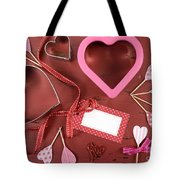Romantic Theme Cookie Cutters Tote Bag