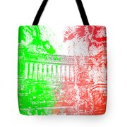 Rome - Altar Of The Fatherland Colorsplash Tote Bag