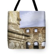 Rome Arch Of Titus Sculpture Detail Tote Bag