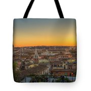 Rome At Sunset Tote Bag