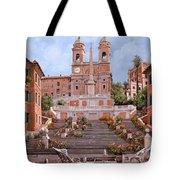 Rome-piazza Di Spagna Tote Bag