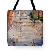 Rome Piazza Di Spagna Tote Bag