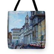 Rome Piazza Navona Tote Bag