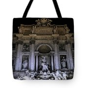 Rome, Trevi Fountain At Night Tote Bag