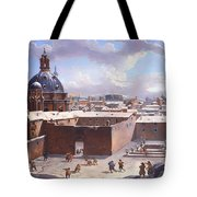 Rome Under The Snow Tote Bag