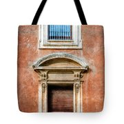 Rome Windows And Balcony Textured Tote Bag