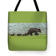Romping By The Lake With Mama Bear Tote Bag