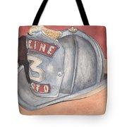 Rondo's Fire Helmet Tote Bag by Ken Powers