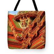 Roof Of Buddhist Temple In Thailand Tote Bag
