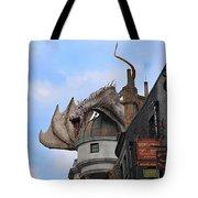 Rooftop Dragon Tote Bag