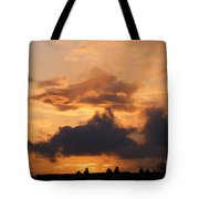 Rooftop Sunset 3 Tote Bag