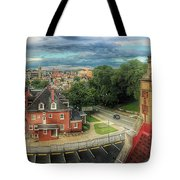 Rooftop View_pano Tote Bag