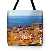 Rooftops Of Old Town Dubrovnik Tote Bag