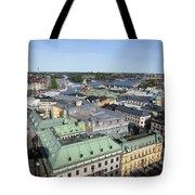 Rooftops Of Stockholm Tote Bag