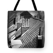 Rooftops Of Belgium Gothic Style Tote Bag