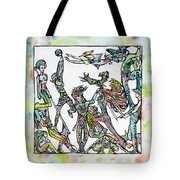 Room Of The Playing Friends Tote Bag
