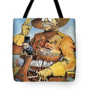 Roosevelt/mckinley Cartoon Tote Bag