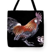 Rooster And Chicks Tote Bag