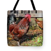 Rooster And Friend Tote Bag