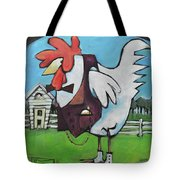 Rooster And Hen House Tote Bag