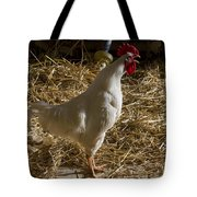 Rooster Crowing Tote Bag