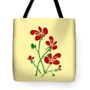 Rooster Flowers Tote Bag