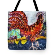 Rooster In The Morning Tote Bag